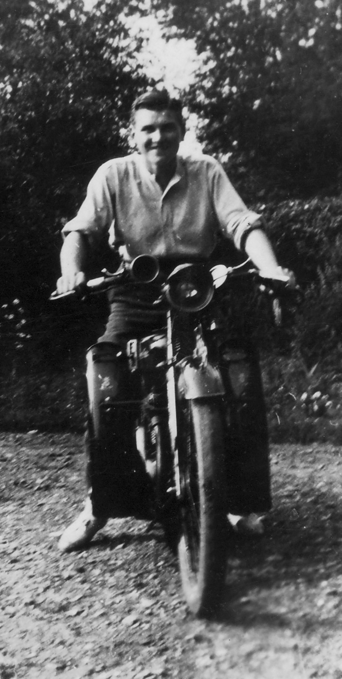 Hal on motorbike in 1930