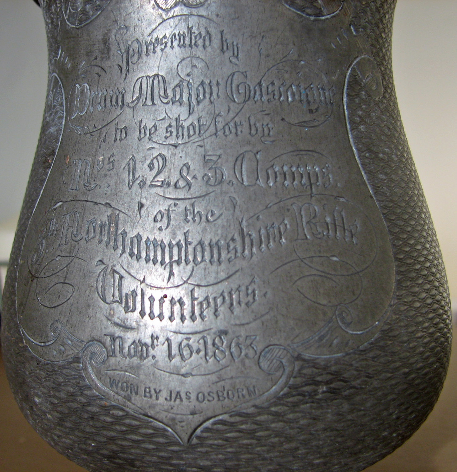 Inscription on cup