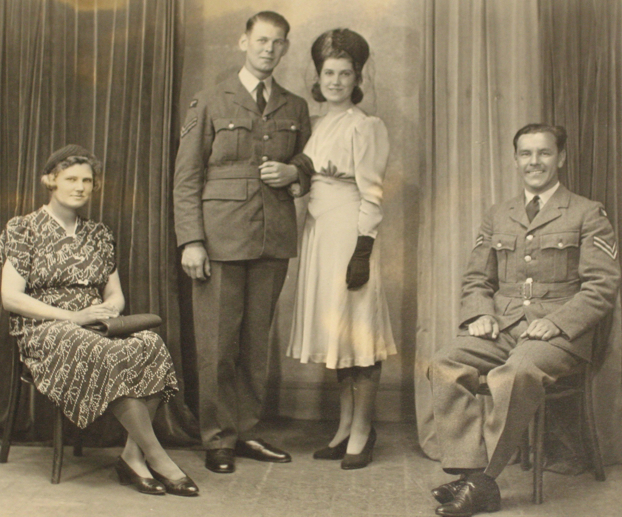 Diana & David's wedding 1940
