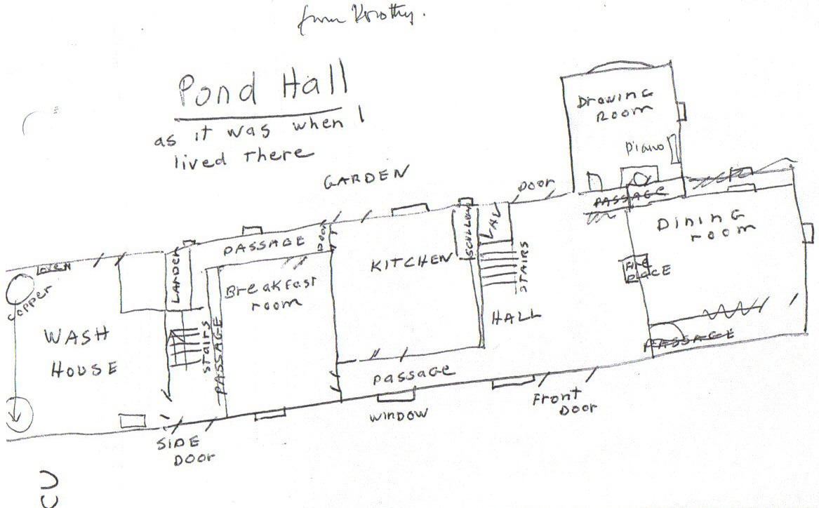 Pond Hall plan by Dorothy