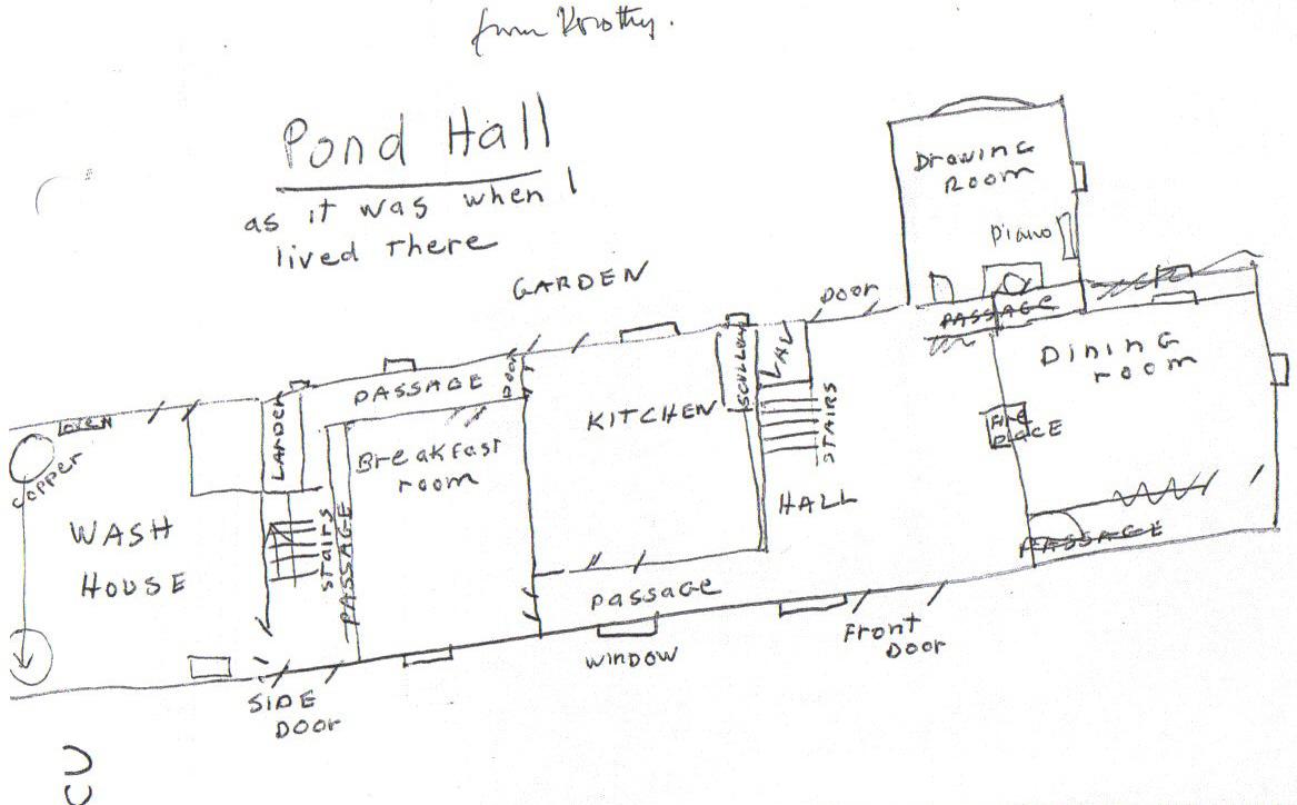 Pond Hall plan by Dorothy