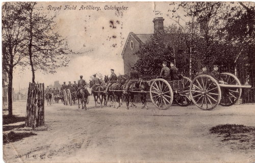 Royal Field Artillery at Colchester